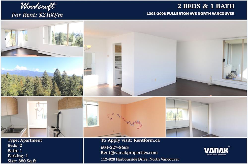 2008 Fullerton Avenue,North Vancouver,BC,Canada,2 Bedrooms Bedrooms,1 BathroomBathrooms,Apartment,Woodcroft,Fullerton Avenue,19,1390